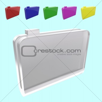 vector collection of 3d folders