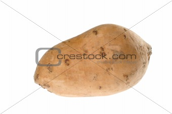 Sweet Potato on White