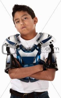 Motorcross Biker Stare-down