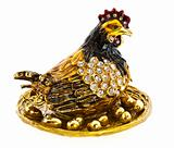 Precious hen with golden eggs