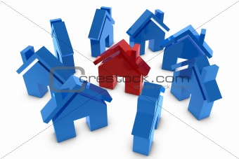 3D house symbol