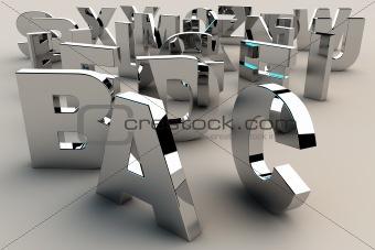 Alphabet in 3d