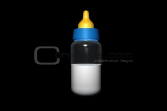 Baby bottle in 3d