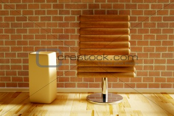 Chair with vase