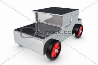 Chrome toy car