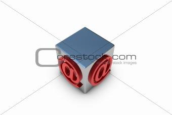 Cube email symbol
