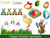 Happy Easter symbols