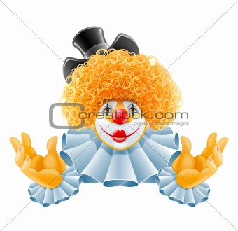 red-haired smiling clown