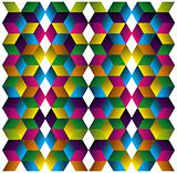Muliticolored cubes pattern.