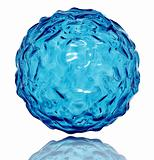 Water sphere with wavy surface.