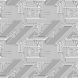 Computer circuit board seamless pattern.