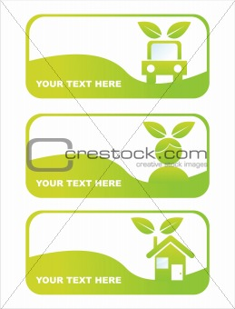 green ecological banners