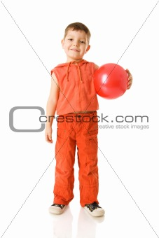 Boy holding ball