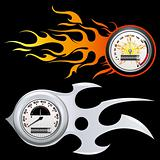 Fiery Speedometer