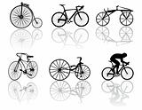 Vector illustration of bicycles