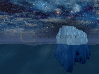 Iceberg at night
