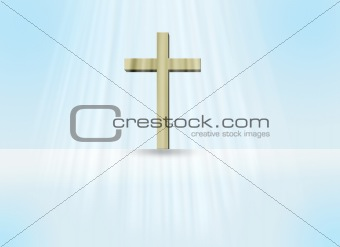 Cross in light