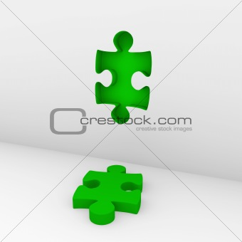 3d puzzle green wall