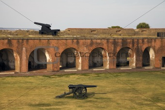 Cannons in Fort Pulaski