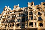 Architecture along Gran Via in Madrid