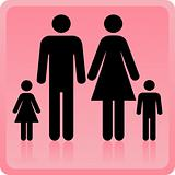 Vector Man & Woman icon with children