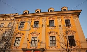 Old building in Krakow - main square.