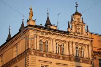 Old building in Krakow - main square.