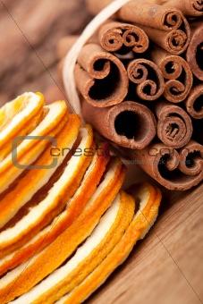 Cinnamon and dried Orange