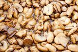Fried mushrooms in oil