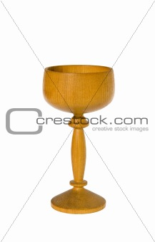 Carved wooden glass