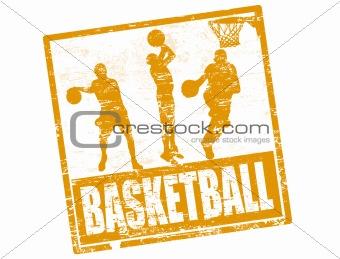 Basketball stamp