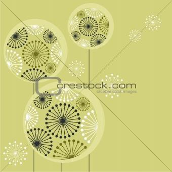 Beautiful stylized dandelions