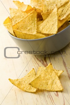 the nachos chips in bowl