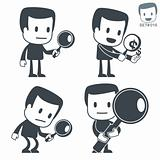 Search. Icon man. Set#016