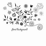 floral silhouette background