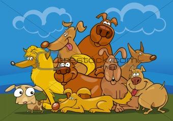 cartoon dogs group