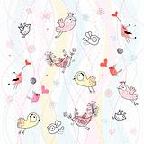 abstract background with birds