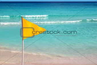 beach yellow flag weather indication signal