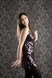 elegant fashion woman sequins dress wallpaper