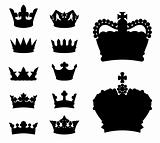 Crown silhouettes