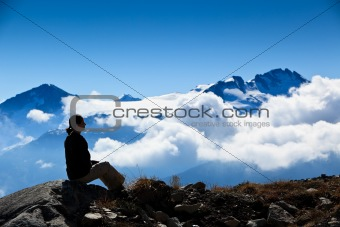 Sitting over the clouds