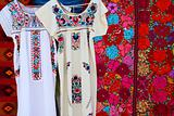 Chiapas Mayan dress embroidery and serape