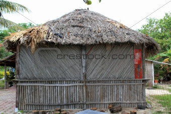 cabin palapa hut wooden traditional Mexico house