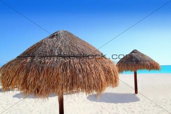 beach traditional sunroof hut caribbean umbrellas