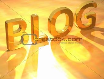 Blog Gold Text