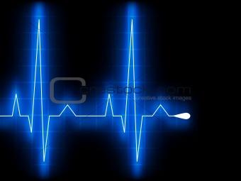 Blue heart beat. Ekg graph. EPS 8