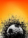 Football grunge poster orange light. EPS 8