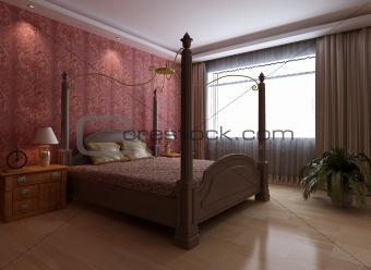 modern style bedroom interior 3d rendering