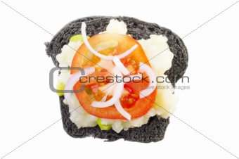 Black charcoal sandwich