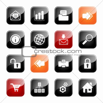 Web and Internet icons - glossy series